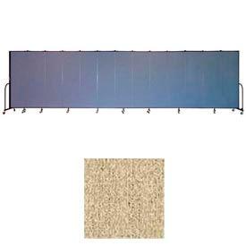 """Screenflex 13 Panel Portable Room Divider, 6'8""""H x 24'1""""L, Vinyl Color: Sandalwood"""