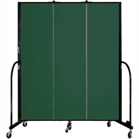 "Screenflex 3 Panel Portable Room Divider, 6'8""H x 5'9""L, Fabric Color: Mallard"