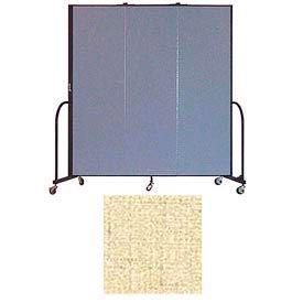 "Screenflex 3 Panel Portable Room Divider, 6'8""H x 5'9""L, Vinyl Color: Hazelnut"