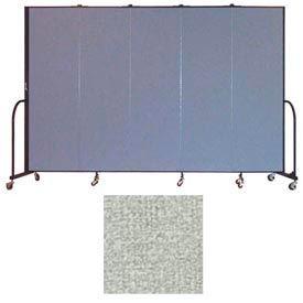 """Screenflex 5 Panel Portable Room Divider, 6'8""""H x 9'5""""L, Vinyl Color: Mint"""