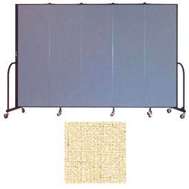 "Screenflex 5 Panel Portable Room Divider, 6'8""H x 9'5""L, Vinyl Color: Hazelnut"