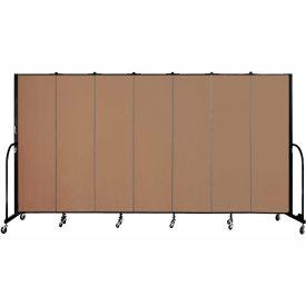 "Screenflex 7 Panel Portable Room Divider, 6'8""H x 13'1""L, Fabric Color: Beech"