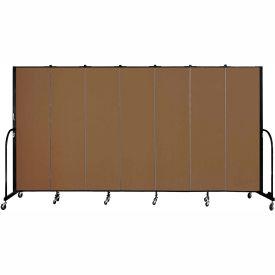 "Screenflex 7 Panel Portable Room Divider, 6'8""H x 13'1""L, Fabric Color: Oatmeal"