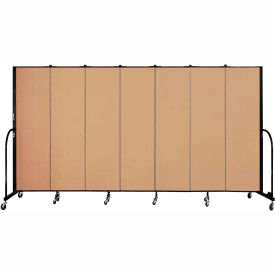 "Screenflex 7 Panel Portable Room Divider, 6'8""H x 13'1""L, Fabric Color: Wheat"