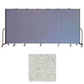 "Screenflex 7 Panel Portable Room Divider, 6'8""H x 13'1""L, Vinyl Color: Granite"