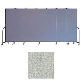 """Screenflex 7 Panel Portable Room Divider, 6'8""""H x 13'1""""L, Vinyl Color: Mint"""