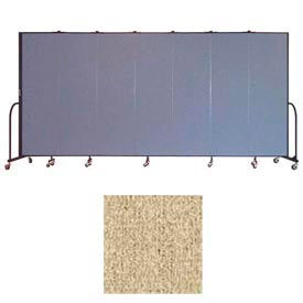 "Screenflex 7 Panel Portable Room Divider, 6'8""H x 13'1""L, Vinyl Color: Sandalwood"
