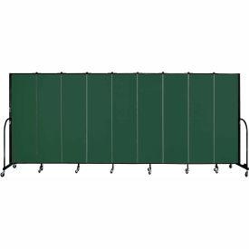 "Screenflex 9 Panel Portable Room Divider, 6'8""H x 16'9""L, Fabric Color: Mallard"