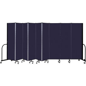 """Screenflex 9 Panel Portable Room Divider, 6'8"""" H x 16'9"""" L, Fabric Color: Navy"""