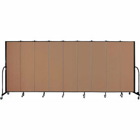 "Screenflex 9 Panel Portable Room Divider, 6'8""H x 16'9""L, Fabric Color: Beech"