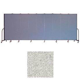 "Screenflex 9 Panel Portable Room Divider, 6'8""H x 16'9""L, Vinyl Color: Granite"