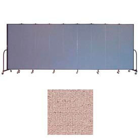 "Screenflex 9 Panel Portable Room Divider, 6'8""H x 16'9""L, Vinyl Color: Raspberry Mist"