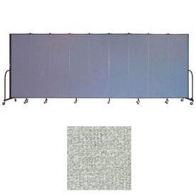 """Screenflex 9 Panel Portable Room Divider, 6'8""""H x 16'9""""L, Vinyl Color: Mint"""