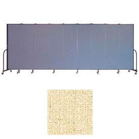 "Screenflex 9 Panel Portable Room Divider, 6'8""H x 16'9""L, Vinyl Color: Hazelnut"