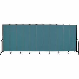 "Screenflex 11 Panel Portable Room Divider, 7'4""H x 20'5""L, Fabric Color: Lake"