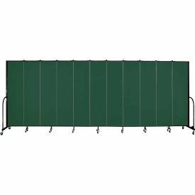 "Screenflex 11 Panel Portable Room Divider, 7'4""H x 20'5""L, Fabric Color: Mallard"