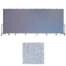 "Screenflex 11 Panel Portable Room Divider, 7'4""H x 20'5""L, Vinyl Color: Blue Tide"