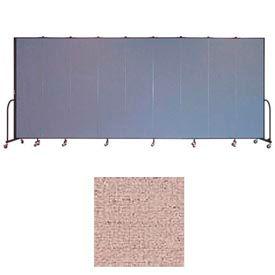 "Screenflex 11 Panel Portable Room Divider, 7'4""H x 20'5""L, Vinyl Color: Raspberry Mist"