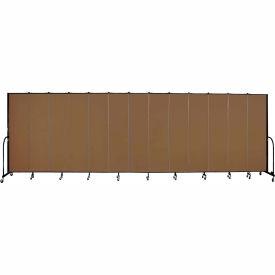 "Screenflex 13 Panel Portable Room Divider, 7'4""H x 24'1""L, Fabric Color: Walnut"