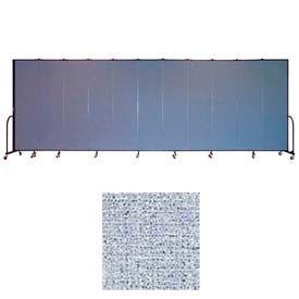 "Screenflex 13 Panel Portable Room Divider, 7'4""H x 24'1""L, Vinyl Color: Blue Tide"