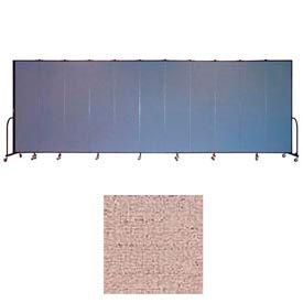 "Screenflex 13 Panel Portable Room Divider, 7'4""H x 24'1""L, Vinyl Color: Raspberry Mist"