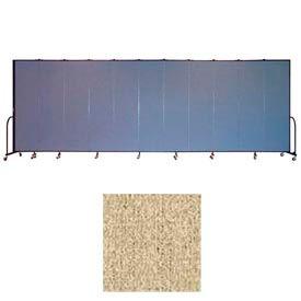 """Screenflex 13 Panel Portable Room Divider, 7'4""""H x 24'1""""L, Vinyl Color: Sandalwood"""