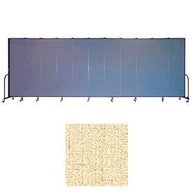 "Screenflex 13 Panel Portable Room Divider, 7'4""H x 24'1""L, Vinyl Color: Hazelnut"