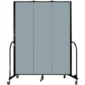"Screenflex 3 Panel Portable Room Divider, 7'4""H x 5'9""L, Fabric Color: Grey Stone"