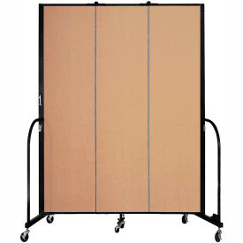 "Screenflex 3 Panel Portable Room Divider, 7'4""H x 5'9""L, Fabric Color: Wheat"