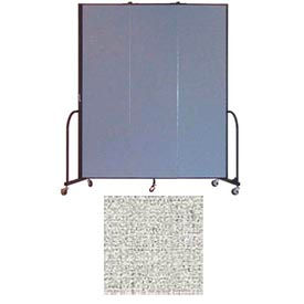 "Screenflex 3 Panel Portable Room Divider, 7'4""H x 5'9""L, Vinyl Color: Granite"