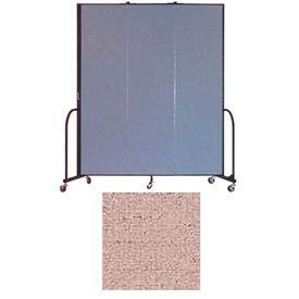 "Screenflex 3 Panel Portable Room Divider, 7'4""H x 5'9""L, Vinyl Color: Raspberry Mist"