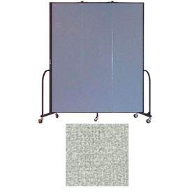 """Screenflex 3 Panel Portable Room Divider, 7'4""""H x 5'9""""L, Vinyl Color: Mint"""