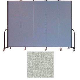 """Screenflex 5 Panel Portable Room Divider, 7'4""""H x 9'5""""L, Vinyl Color: Mint"""