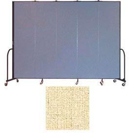 "Screenflex 5 Panel Portable Room Divider, 7'4""H x 9'5""L, Vinyl Color: Hazelnut"