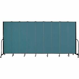 "Screenflex 9 Panel Portable Room Divider, 7'4""H x 16'9""L, Fabric Color: Lake"
