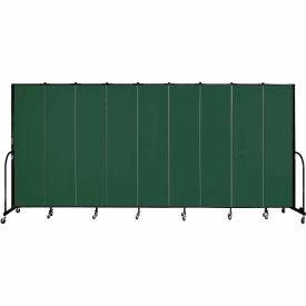 "Screenflex 9 Panel Portable Room Divider, 7'4""H x 16'9""L, Fabric Color: Mallard"