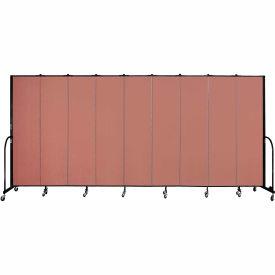 "Screenflex 9 Panel Portable Room Divider, 7'4""H x 16'9""L, Fabric Color: Cranberry"