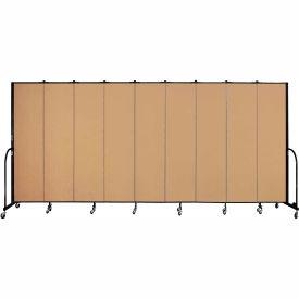 "Screenflex 9 Panel Portable Room Divider, 7'4""H x 16'9""L, Fabric Color: Sand"