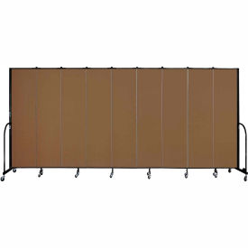 "Screenflex 9 Panel Portable Room Divider, 7'4""H x 16'9""L, Fabric Color: Oatmeal"