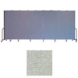 """Screenflex 9 Panel Portable Room Divider, 7'4""""H x 16'9""""L, Vinyl Color: Mint"""