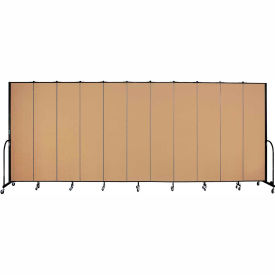 "Screenflex 11 Panel Portable Room Divider, 8'H x 20'5""L, Fabric Color: Sand"
