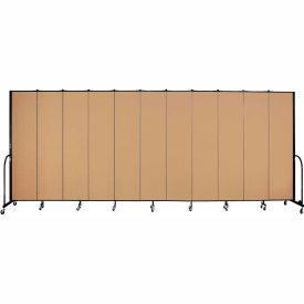 "Screenflex 11 Panel Portable Room Divider, 8'H x 20'5""L, Fabric Color: Sand"