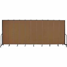 "Screenflex 11 Panel Portable Room Divider, 8'H x 20'5""L, Fabric Color: Oatmeal"