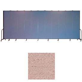 "Screenflex 11 Panel Portable Room Divider, 8'H x 20'5""L, Vinyl Color: Raspberry Mist"