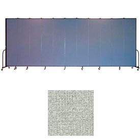"""Screenflex 11 Panel Portable Room Divider, 8'H x 20'5""""L, Vinyl Color: Mint"""