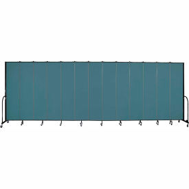 "Screenflex 13 Panel Portable Room Divider, 8'H x 24'1""L, Fabric Color: Lake"