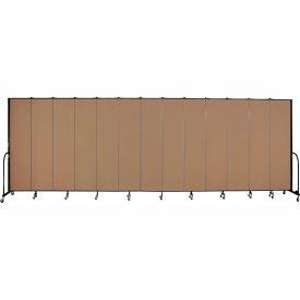 "Screenflex 13 Panel Portable Room Divider, 8'H x 24'1""L, Fabric Color: Beech"