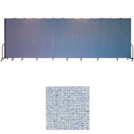 "Screenflex 13 Panel Portable Room Divider, 8'H x 24'1""L, Vinyl Color: Blue Tide"
