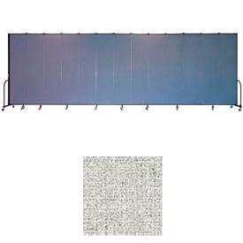 "Screenflex 13 Panel Portable Room Divider, 8'H x 24'1""L, Vinyl Color: Granite"