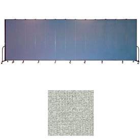 """Screenflex 13 Panel Portable Room Divider, 8'H x 24'1""""L, Vinyl Color: Mint"""